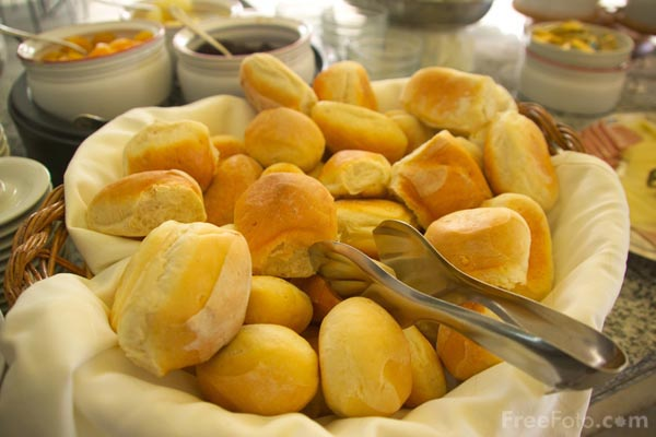 Picture of Bread rolls - Free Pictures - FreeFoto.com