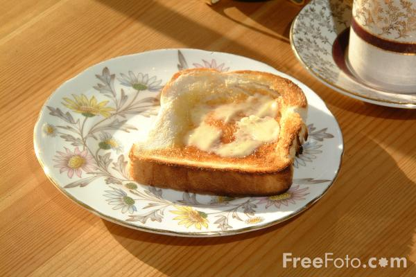Picture of Breakfast - Toast - Free Pictures - FreeFoto.com