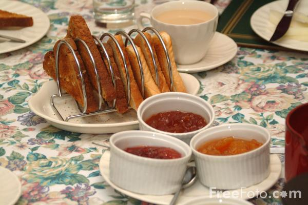 Picture of Breakfast - Toast and Jam - Free Pictures - FreeFoto.com