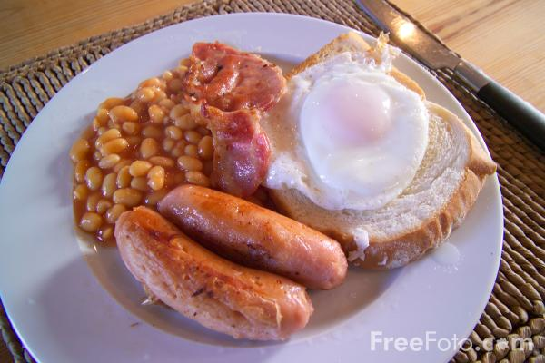 Picture of Traditional Cooked English Breakfast - Free Pictures - FreeFoto.com