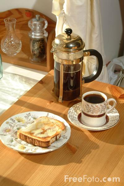 Picture of Breakfast - Coffee and Toast - Free Pictures - FreeFoto.com