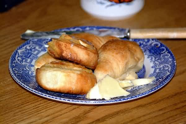 Picture of Croissants and Cinnamon buns - Free Pictures - FreeFoto.com
