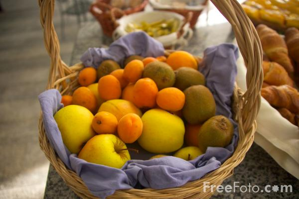 Picture of Fruit Basket - Free Pictures - FreeFoto.com