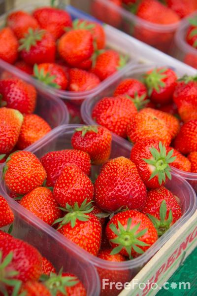 Picture of Fruit Strawberries - Free Pictures - FreeFoto.com