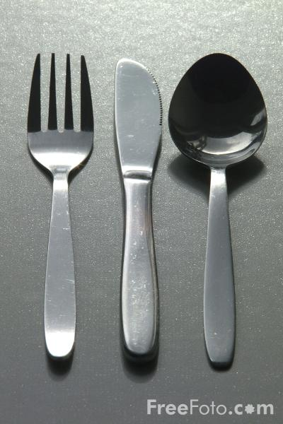 Picture of Knife, Fork, Spoon - Free Pictures - FreeFoto.com