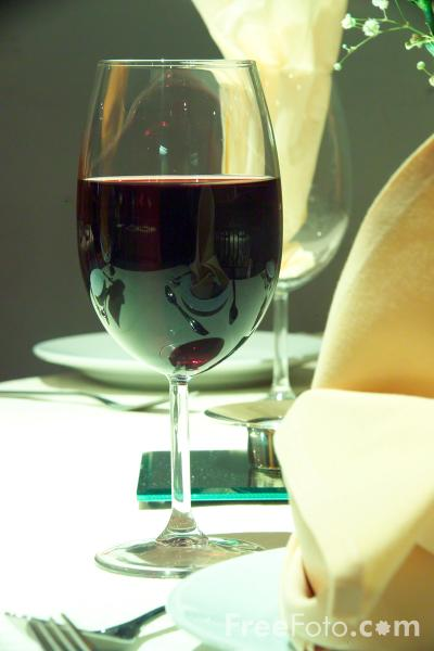 Picture of Glass of Red Wine - Free Pictures - FreeFoto.com