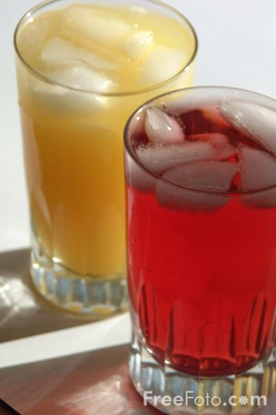 Picture of Orange and Cranberry Juice - Free Pictures - FreeFoto.com