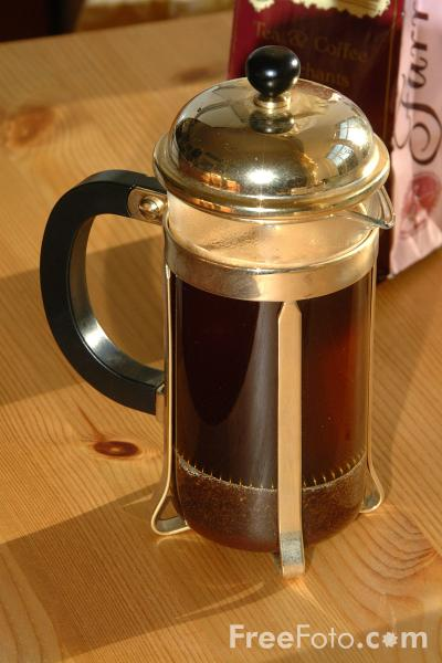 Picture of Cafetiere of Coffee - Free Pictures - FreeFoto.com