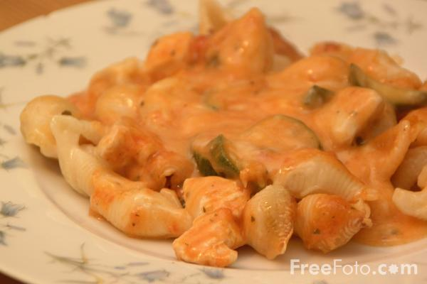 Picture of Chicken and Pasta - Free Pictures - FreeFoto.com