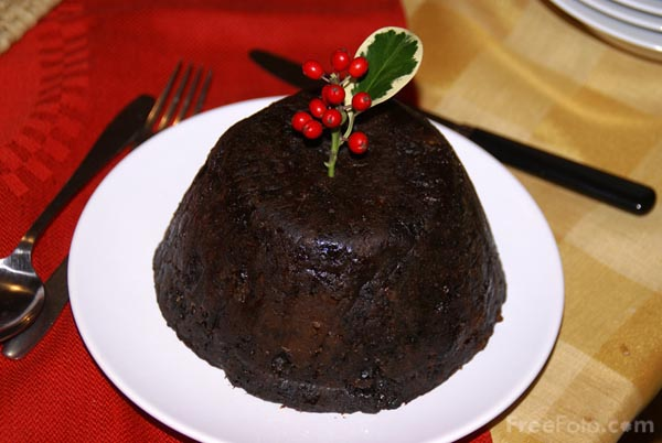 Christmas Pudding pictures, free use image, 09-23-31 by FreeFoto.com