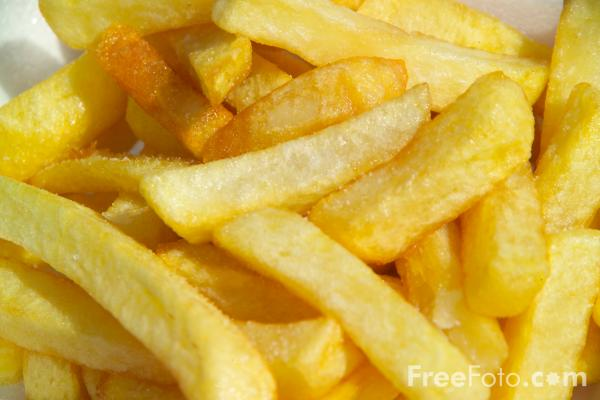 Picture of Chips / French Fries - Free Pictures - FreeFoto.com