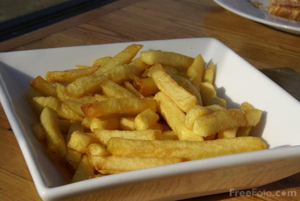 Picture of Chips French Fries - Free Pictures - FreeFoto.com