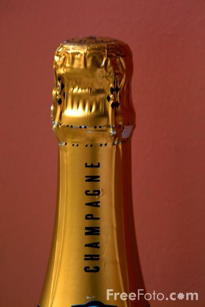 Picture of Bottle of Champagne - Free Pictures - FreeFoto.com