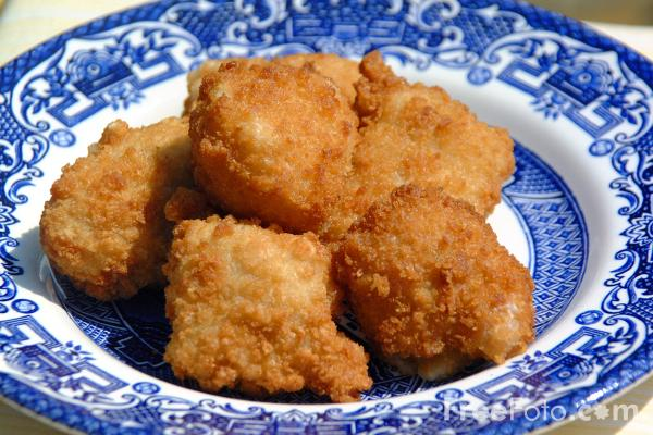 Picture of Breaded chicken Pieces - Free Pictures - FreeFoto.com