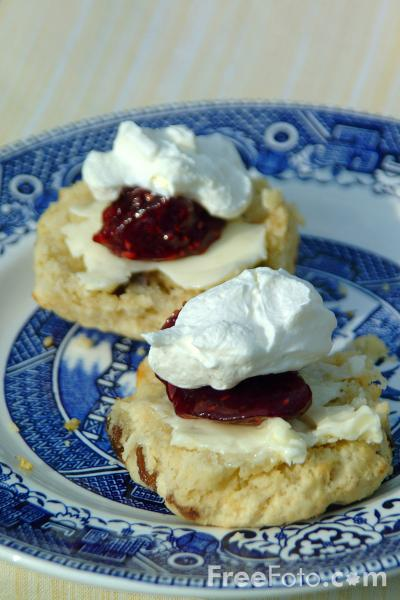 Picture of Scones,  Jam and Cream - Free Pictures - FreeFoto.com