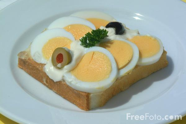 Picture of Egg Sandwich - Free Pictures - FreeFoto.com