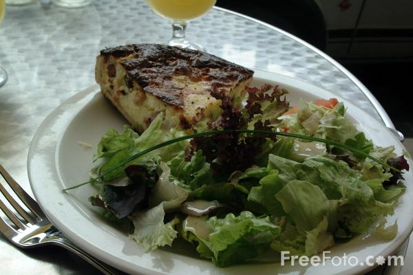 Picture of Ham and Egg Pie with Salad - Free Pictures - FreeFoto.com