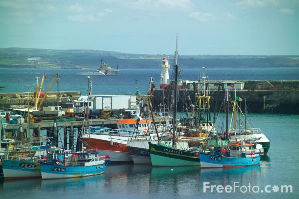 Picture of Fishing Boats, Newlyn Harbour, Cornwall - Free Pictures - FreeFoto.com