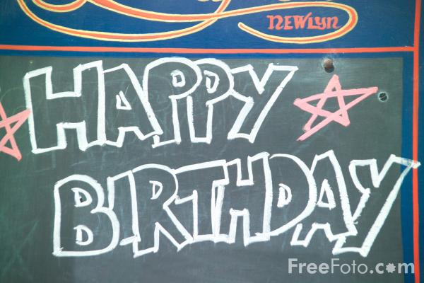 Picture of Happy Birthday Sign - Free Pictures - FreeFoto.com