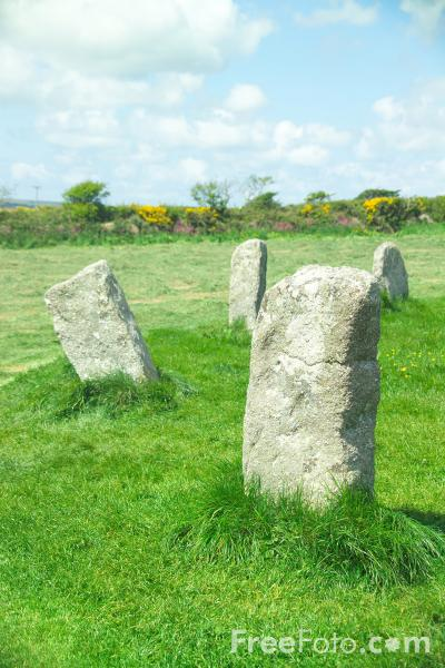 Picture of The Merry Maidens Stone Circle near Lamorna,  Cornwall - Free Pictures - FreeFoto.com