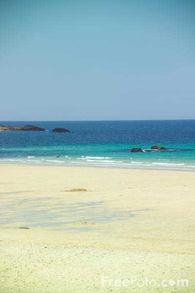 Picture of The Beach, St Ives,  Cornwall - Free Pictures - FreeFoto.com