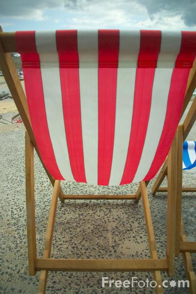 Picture of Deck Chair, St Ives,  Cornwall - Free Pictures - FreeFoto.com