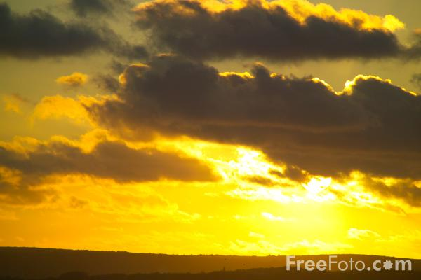 Picture of Sunset, Cornwall - Free Pictures - FreeFoto.com