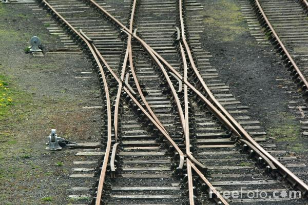 Picture of Points, Beamish Railway Station - Free Pictures - FreeFoto.com