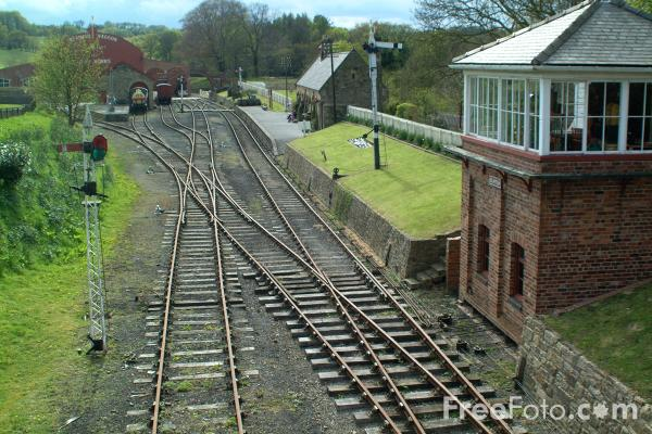 Picture of Beamish Railway Station - Free Pictures - FreeFoto.com