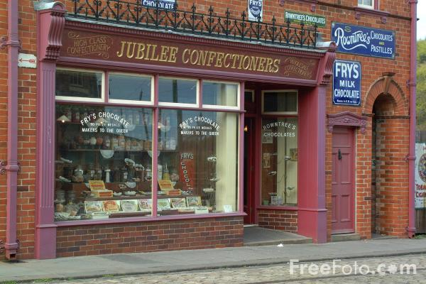 Picture of Jubilee Confectioners, The North of England Open Air Museum, Beamish, County Durham - Free Pictures - FreeFoto.com
