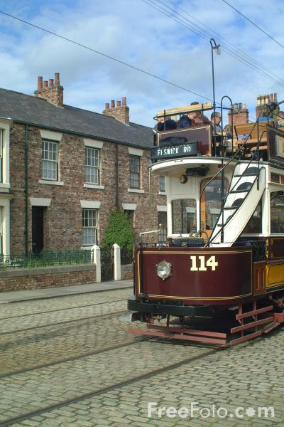 Picture of Newcastle Electric Tramway Tram - Free Pictures - FreeFoto.com
