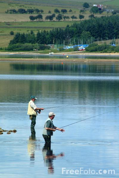 Picture of Fishing, Derwent Reservoir, County Durham - Free Pictures - FreeFoto.com