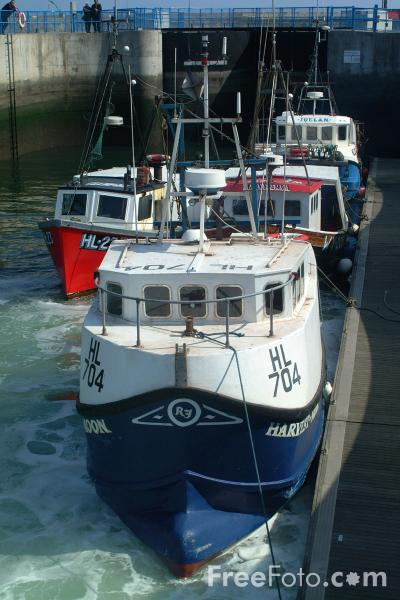 Picture of Fishing Boat, Hartlepool - Free Pictures - FreeFoto.com