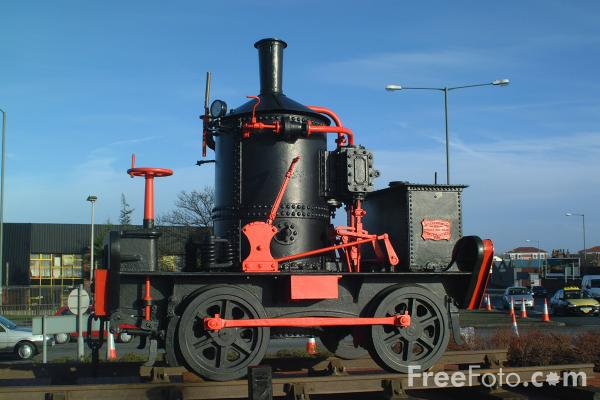 Picture of Steam Locomotive No 16, Bridge Road, Stockton - Free Pictures - FreeFoto.com