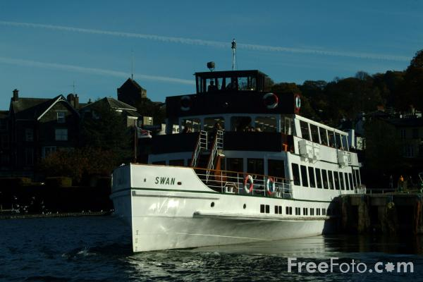 Picture of Swan Pleasure Steamer, Lake Windermere, The Lake District - Free Pictures - FreeFoto.com