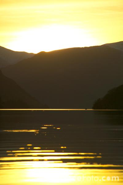 Picture of Sunset, Ullswater, The Lake District - Free Pictures - FreeFoto.com