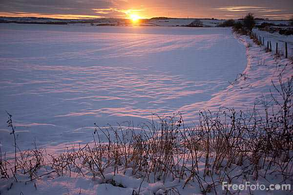 Picture of Winter Sunset - Free Pictures - FreeFoto.com