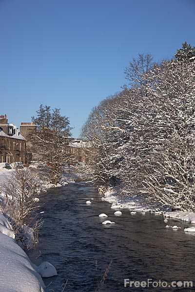 Picture of Leithen Water in Winter - Free Pictures - FreeFoto.com