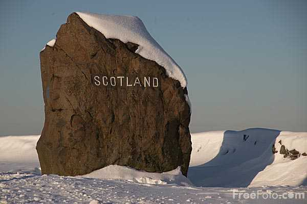 Picture of Scottish Border at Carter Bar in Winter - Free Pictures - FreeFoto.com
