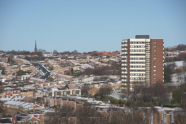 Picture of Gateshead covered in snow - Free Pictures - FreeFoto.com