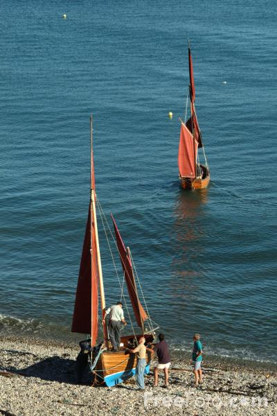 Picture of Beer Lugger, Traditional Fishing Boat, Beer, Devon - Free Pictures - FreeFoto.com