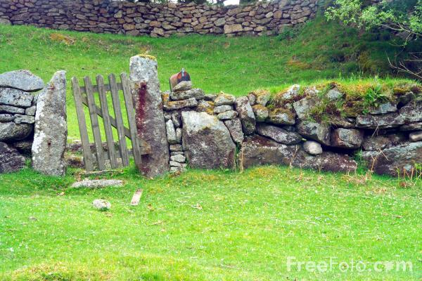 Picture of Wooden Gate, Dartmoor, Devon - Free Pictures - FreeFoto.com