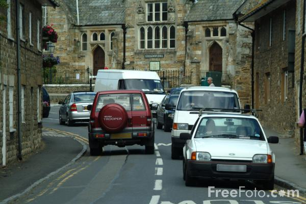 Picture of Traffic Congestion on the B3157, Abbotsbury, Dorset, England - Free Pictures - FreeFoto.com