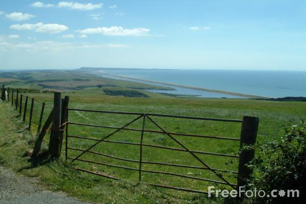 Picture of Chesil Beach seen from near Abbotsbury, Dorset, England - Free Pictures - FreeFoto.com