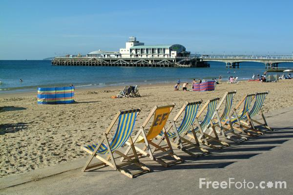 Picture of Deck Chairs, Bournemouth, Dorset, England - Free Pictures - FreeFoto.com