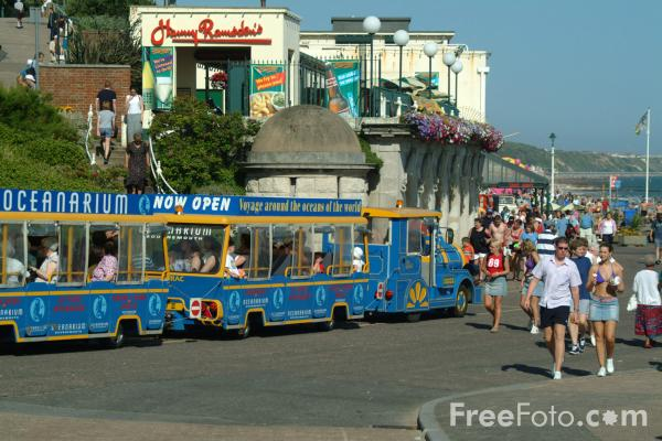 Picture of Land Train, Bournemouth Seafront - Free Pictures - FreeFoto.com