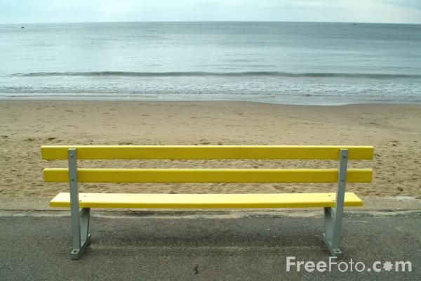 Picture of Chair, Bournemouth Seafront - Free Pictures - FreeFoto.com