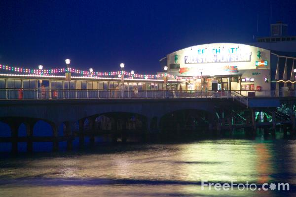 Picture of Bournemouth at Night - Free Pictures - FreeFoto.com