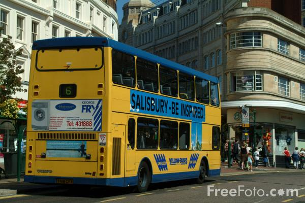 Picture of Yellow Buses Bus, Bournemouth, Dorset, England - Free Pictures - FreeFoto.com
