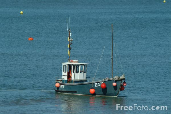 Picture of Fishing Boat, Lyme Regis, Dorset, England - Free Pictures - FreeFoto.com